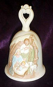 Home Interiors porcelain Nativity bell HOMCO