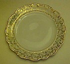 House of Dresden gold floral embossed plate 7""