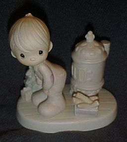 Precious Moments figurine May your Christmas be warm
