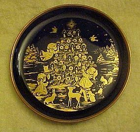 Lindner Kueps cobalt miniature plate Peace on Earth