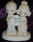 Precious Moments Anniversary figurine, God blessed ....
