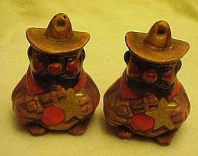 Rare California Originals Sheriff shakers