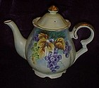 Beautiful Lefton China teapot FESTIVAL grapes