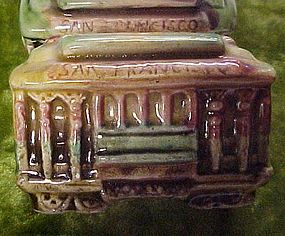 Vintage San Francisco cable car shakers EF Clements