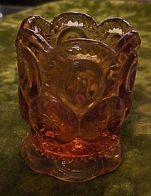 LG Wright amber Moon and Stars toothpick holder