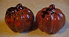 Orange and brown marbled glaze pumpkin shakers