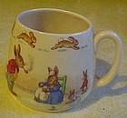 Early Royal Doulton Bunnykins mug by Barbara Vernon