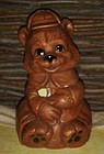 Unmarked De Forest  California smiling bear cookie jar