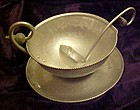 Buenilum  hand wrought gravy sauce boat and ladle 1950