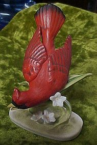 Lefton Cardinal figurine head down KW464N