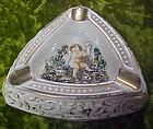 Vintage Capodimonte cherub ashtray Italy