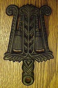 Vintage Grain and tassel miniature iron trivet  MT-6