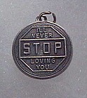 Vintage Beau Sterling charm. I'll never stop loving you