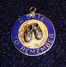 Beau Sterling silver charm, A date to remember booties