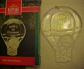 Hallmark Keepsake ornament Babys first Christmas 1990