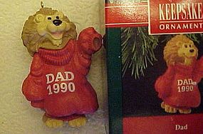 Hallmark Keepsake ornament Lion Dad 1990
