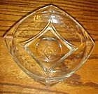 Cambridge Masonic intaglio glass crystal ashtray