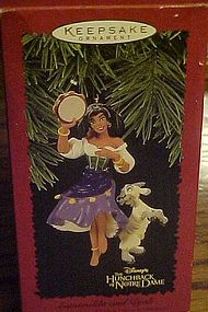 Hallmark Disney Esmeralda and Djali keepsake ornament