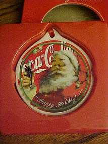 Coca Cola Collectors series ornament Santa Claus