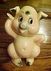 Vintage Kreiss pink pig figurine 1959