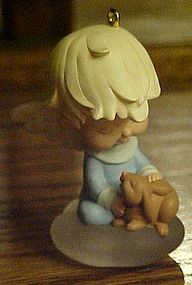 Hallmark Mary s angel s Marguarite  with bunny ornament