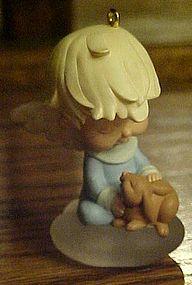 Hallmark Mary s angel s Marguarite  with bunny ornament