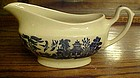 Churchill England Blue willow gravy boat Georgian shape