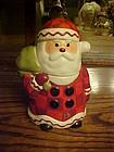 Hallmark Santa  with toy sack cookie treat jar