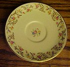 Taylor Smith Taylor saucer floral center brown scrolls