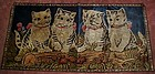 Vintage tapestry of four kittens