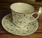 Noritake Chintz matching cup and footed saucer