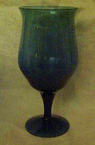 Denby crystal Olympia blue water goblet 6 5/8""