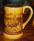 Vintage Fred Robertsceramic stien horses and cart
