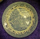 Churchill England blue and white dinner plate  harvest