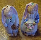 Flop earred bunny rabbit salt and pepper shakers