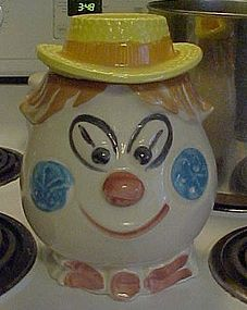 Vintage Morton Hillbilly clown cookie jar