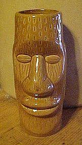 Vintage Moai tiki totem drink glass
