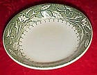 USA 31 sauce bowl wide green and white floral rim