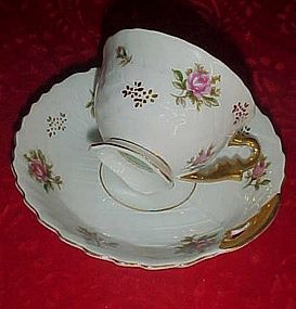 Vintage Yada china demitasse cup and saucer roses