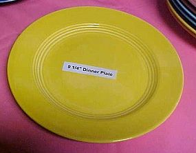 HLC Harlequin yellow luncheon plate 9 1/4""