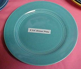 HLC Harlequin turquoise luncheon plate 9 1/4""