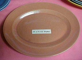 """HLC Harlequin coral oval platter 9"""" x 11 1/2"""""""