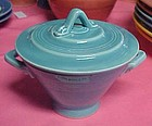HLC Harlequin  turquoise covered sugar bowl