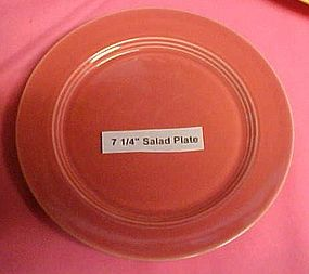 HLC Harlequin rose or coral salad plate 7 1/4""