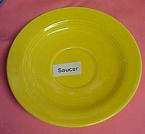 HLC Harlequin yellow saucer 5 7/8""