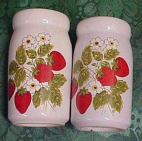 McCoy Strawberry Country salt and pepper shakers