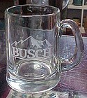 Official Anhauser Busch etched glass Busch beer mug