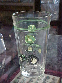John Deere Tractor drinking glass