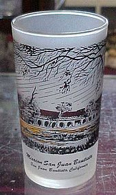 Vintage California Mission San Juan Bautista glass