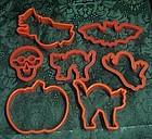 Halloween assortment of cookie cutters